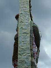 Behind the Guardian (failing_angel) Tags: 010518 london cityofwestminster theinvisibleenemyshouldnotexistbymichaelrakowitz fourthplinth theinvisibleenemyshouldnotexistproject lamassu wingedbull nergalgate nineveh cuneiform