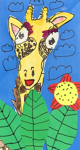 """1st grade African Giraffe Paintings #giraffe #drawing #painting #art #collage #1st #1stgrade #arteducation • <a style=""""font-size:0.8em;"""" href=""""http://www.flickr.com/photos/57802765@N07/42990436195/"""" target=""""_blank"""">View on Flickr</a>"""