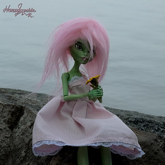 I haven`t chosen her name yet(( (Honeysuckle Rauxys) Tags: summer sky stone custom monster ooak doll high clothes