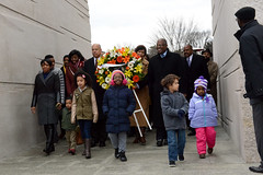 January  18, 2015 MMB Hosts MLK Wreath (Mayor Muriel Bowser) Tags: mlk mmb nationalmall 50anniversary wreath 2015
