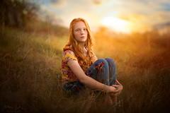Teen ({jessica drossin}) Tags: jessicadrossin portrait sitting sunset clouds field wwwjessicadrossincom
