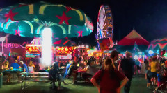 Oh what a lovely night at the fair. . . (boriches) Tags: painterly carnival fair empire ozark missouri