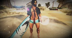 The waves don't wait for the weekend... (Markthedark SL) Tags: sl beach surf sun secondlife second life avatar virtual homme man outdoor sand signature baja norte loverboy legal insanity riot 3d water destinations landscapes mesh vacation