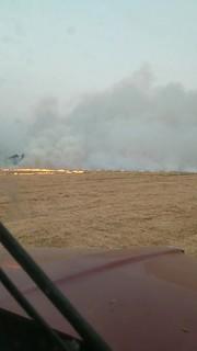 Field fire practice.