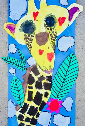 """1st grade African Giraffe Paintings #giraffe #drawing #painting #art #collage #1st #1stgrade #arteducation • <a style=""""font-size:0.8em;"""" href=""""http://www.flickr.com/photos/57802765@N07/43176836264/"""" target=""""_blank"""">View on Flickr</a>"""