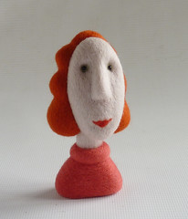 Sandra (Gretel Parker) Tags: needlefelt needlefelting needlefelted needlefeltedhead miniaturehead fibreart softsculpture gretelparker
