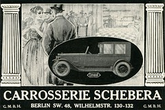 German Advertisements: (painting in light) Tags: 1916 ad advert advertisement sell selling illustration drawing vintage german germany berlin for coupé car automobile motor carrosserie schebera