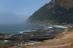 Cape Perpetua Volcanic Rock (thies59) Tags: capeperpetua volcanicrock yachats oregon coast pacific ocean headland spoutinghorns fog