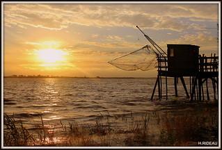 Soir d'été sur l'estuaire de la Gironde