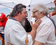 Ato inter-religioso reúne Nobel da Paz em apoio a Lula e solidariedade a grevistas. Foto: Magno Romero           Data:14/agosto/2018 (PTnaCâmara) Tags: ato inter religioso nobel da paz solidariedade stf greve de fome deputados
