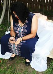blue dress 2 (Sarah_HIllcrest) Tags: tran trans transgender portrait crossdresser clothes outdoor