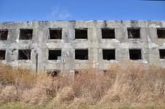 Abandoned No.16 (RisoLiquore) Tags: abandoned japan nikon d7000 ruin iwate hachimantai matsuo mine autumn line architecture blue gray concrete building
