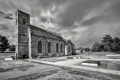 St. Peter's Church (robinta) Tags: monochrome mono blackwhite church ancient historic worship christianity landmark architecture sunderland canon canon1018mm 200d building old urban longexposure sky clouds drama stormy