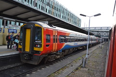 East Midlands Trains Express Sprinter 158865 (Will Swain) Tags: nottingham station 6th april 2018 train trains rail railway railways transport travel uk britain vehicle vehicles england english midlands city nottinghamshire emt stagecoach group williamsdigitalcamerapics100 east express sprinter 158865 class 158 865
