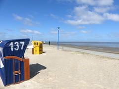 On the beach ... (Christa_P) Tags: 7dwf numbers crazytuesdaytheme beach strand northsea nordsee neuharlingersiel eastfrisia ostfriesland germany blue azul vacations landscape urlaub sky clouds