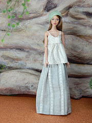 """Linnen"" and the maxiskirt (Levitation_inc.) Tags: ooak doll dolls clothes handmade fashion fashions royalty nuface integrity toys levitationfashion etsy barbie barbiestyle poppy parker summer boho 2018"