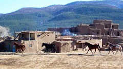 Taos Pueblo, New Mexico, USA (rociomcoss) Tags: taos pueblo new mexico usa southwest nm adobe native newmexico newmexicotrue weaving santafe