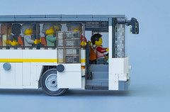 LiAZ 5251 (MacSergey) Tags: bus lego minifigs liaz автобус лего минифигурки лиаз пассажиры passenger