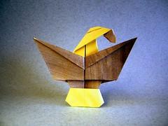Pureland Eagle - Marc Kirschenbaum (Rui.Roda) Tags: origami papiroflexia papierfalten aguila águia aigle pureland eagle marc kirschenbaum