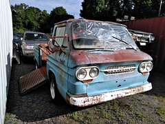 Chevrolet Corvair 95 (Dave* Seven One) Tags: chevrolet corvair chevroletcorvair rearengine aircooled farmfresh rusty rust abandoned forgotten junk salvage 1960s truck pickup pickuptruck rampside
