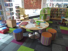 Children's section in the HBN library