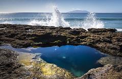 Splash Pool (hughjones777) Tags: sea poolsurf waves nz bleach rockpool