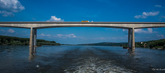 2018 - Serbia - Danube - Beška Bridge - 2 of 2 (Ted's photos - For Me & You) Tags: 2018 cropped nikon nikond750 nikonfx novisad serbia tedmcgrath tedsphotos vignetting mostkodbeške mostkodbeškeserbia bridge danuberiver danube reflection waterreflection wideangle widescreen water span bridgespan bluesky blue