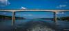 2018 - Serbia - Danube - Beška Bridge - 2 of 2 (Ted's photos - For Me & You) Tags: 2018 cropped nikon nikond750 nikonfx novisad serbia tedmcgrath tedsphotos vignetting mostkodbeške mostkodbeškeserbia bridge danuberiver danube reflection waterreflection wideangle widescreen water span bridgespan bluesky blue
