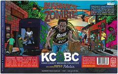 BUSHWICK ZOMBIE by Earl Holloway for Kings County Brewers Collective & Roberta's in support of the ACLU (Label_Craft) Tags: beer beers craftbeer labels craft labelcraft beerlabel design illustration illo type fonts burp beerme brew suds brewery kcbc kcbcbeer kingscountybrewerscollective robertas pizza aclu peoplepowerbeer people power raspberry peach sourale ale