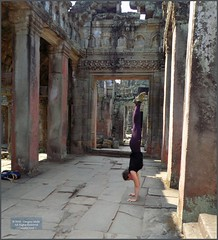 Angkor, Preah Khan Temple Yoga 20180203_132350 DSCN2727 (CanadaGood) Tags: asia seasia asean cambodia siemreap angkor buddhist hindu khmer preahkhan temple sculpture people person yoga building architecture archaeology canadagood 2018 thisdecade color colour