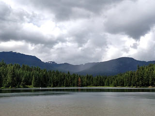 Showery day at Lost Lake