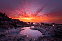 A red world (Rod Burgess) Tags: durraspoint nsw southdurras newsouthwales australia au sunrise dawn red redsky rocks pool