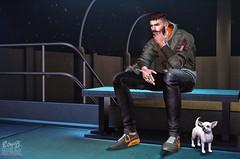 . EohB . #Modulus #Catwa #Straydog #ValeKoer #Kalback #L'etre #LegalInsanity (Crayolas Clothes) Tags: modulus catwa straydog valekoer kalback letre legalinsanity mood ootd lotd station stip smoke cigs puppy guy gay man men dude stud thick buddy male mate night green bomberjacket shoes lights stars sl slfashion slmen slman slblog secondlife avatar belleza 2018 summer rings chinos