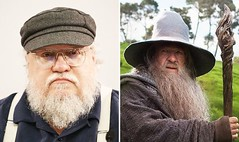 George RR Martin: 'Gandalf's death in Lord of the Rings inspired Game of Thrones killings' (worldnewsnest) Tags: books reading