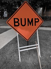 Bump (Crawford Brian) Tags: bump sign tree street lawn grass