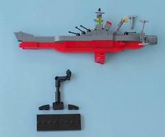 Space Battleship Yamato instructions 11 (Tino Poutiainen) Tags: lego legomoc legobuild blazers scale instructions scifi ship space star stand yamato photography photograph picture anime japan