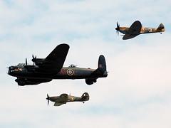 The Battle of Britain Memorial Flight (johnyates2011) Tags: riat2018 riat fairford raffairford battleofbritainmemorialflight lancaster spitfire hurricane pa474 lf363 mk356
