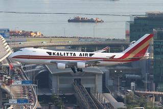 N700CK, 747-400F, Kalitta Air, Hong Kong