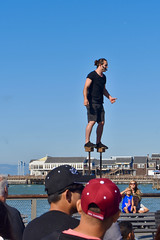 Fisherman's Wharf Street Performer (nick.amoscato) Tags: sanfrancisco ca california warf pier