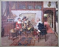 Gems of Wisdom (pefkosmad) Tags: jigsaw puzzle pastime hobby leisure plywood wood wooden vintage missingpieces onepiecemissing old ponda gemsofwisdom painting art genre albertfriedrichschroder