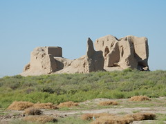 The ruins of fortress Minor Kyz-Kala (Beth M527) Tags: unesco worldheritagesites 2018 turkmenistan centralasia thefivestans mary ruins ancientmerv antiquities silkroad