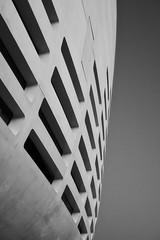 Arena in black (@phr_photo) Tags: architecture building detail détail immeuble arena bordeaux blackandwhite bnw monochrome curve courbe ligne ombre shadow line