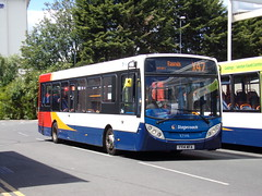 Stagecoach Midlands ADL Enviro 200 37110 YY14 WFA (Alex S. Transport Photography) Tags: bus outdoor road vehicle stagecoach stagecoachmidlandred stagecoachmidlands adlenviro200 enviro200 e200 adldartslf4 unusual routex47 37110 yy14wfa rare