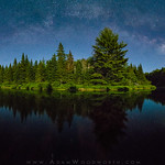 Moonlight and Milky Way on the Machias River thumbnail