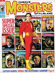 Famous Monsters #101 (1973) cover by Basil Gogos (gameraboy) Tags: vintage famousmonsters 101 1973 cover basilgogos 1970s shazam captainmarvel comics