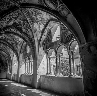 medieval cloister of brixen, south tyrols, 2018
