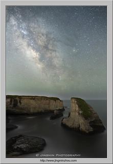 Milky Way over Shark Fin
