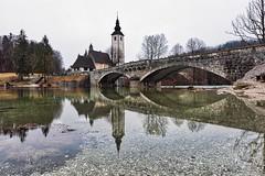 0815 Stone Bridge (Hrvoje Simich - gaZZda) Tags: pond landscape noperson longexposure trees stone bridge arcbridge travel bohinj slovenia europe nikon nikond750 sigma2414 gazzda hrvojesimich