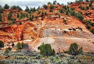 Navajo sandstone bluff along Scenic Route 89 near Kanab Utah
