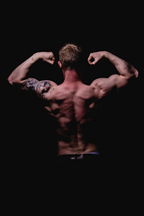 _BSC2428 (benni_schuetzenhofer) Tags: inked shredded shred tattoo tattooedup blackbackground abs sixpack huge muscle muscles big getbig fitness model athletic fit fitguy man male malemodel